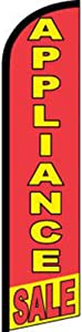 AES Appliance Sale Red/Yellow Windless Banner Advertising Marketing Flag