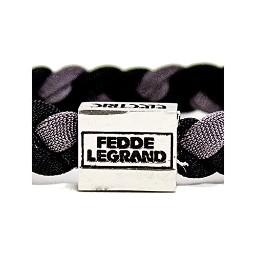 Fedde Le Grand Charity Woven Wristband - Charcoal, One Size