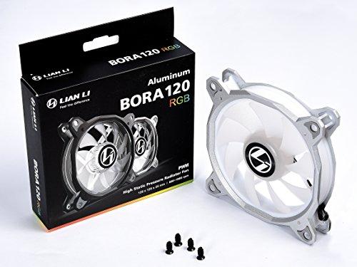 Lian Li BORA Series,120-1 Silver RGB LED PWM One Fan, No Controller