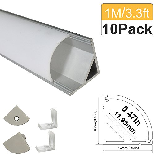 LightingWill 10 Pack Aluminum Channel Anodized