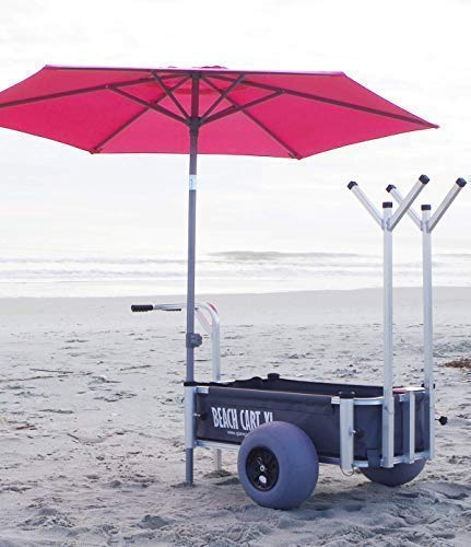 Glampin' Life Beach Cart XL - Beach Wagon, Customizable Beach Carts with Big Wheels for Sand and Grass. All Terrain Utility Wagon/Beach Buggy for Fishing, Camping and Beaching Portable Caddy for $<!--$429.99-->