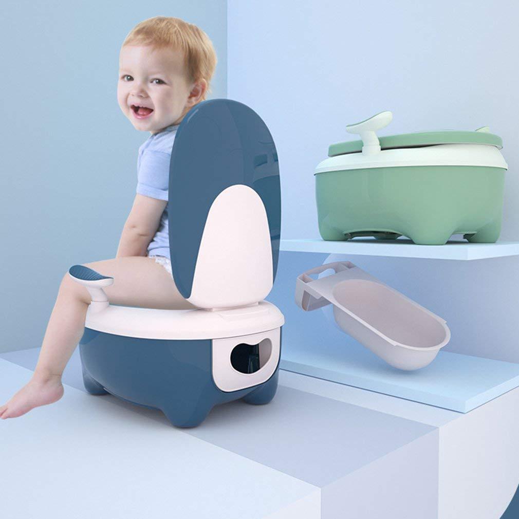 Kinder-T/öpfchen Babytopf ragbare WC Reise T/öpfchen Urinal f/ür Junge und M/ädchen Gr/ün 0.5-8 j/ährige Kinder hochwertiger Toilettentrainer rutschfeste Kinder Toilette
