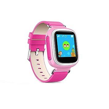 Gskj Relojes Inteligentes para Niños GPS Posicionamiento De Telefonos Moviles WiFi Pantalla Táctil Llamada SOS Localizador De Localización La Seguridad ...