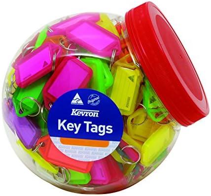 KEVRON Kunststoffwanne keytags–verschiedene Farben (150Stück)
