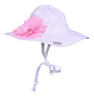 Amazon.com  UPF 50+ Floppy Hat w Pink Flower  92114fab4ecf