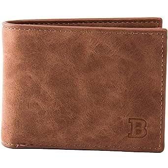 Elenxs Men Durable PU Card Holder Money Wallet Blocking Slim Coin Pocket Business Sports Casual Purse