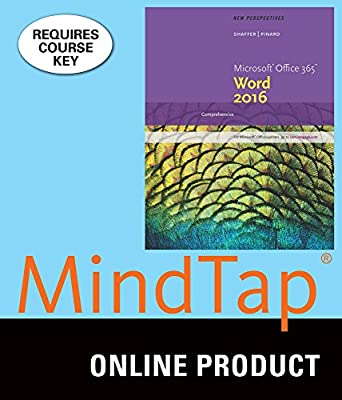 MindTap Computing for Shaffer/Pinard's New Perspectives Microsoft Office 365 & Word 2016: Comprehensive, 1st Edition
