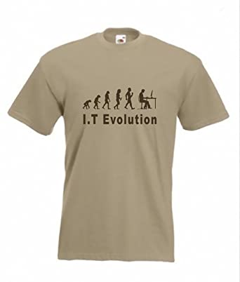 b966fd1b Evolution to IT Expert t-Shirt Funny Computer T-Shirt Sizes S to 2XXL:  Amazon.co.uk: Clothing