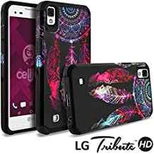 LG Tribute HD Case, LG X Style Case, Celljoy [Liquid Armor] (Dream Catcher Design) LG LS676 Slim Fit [Dual Layer Series] TPU Protective Hybrid [[Shockproof]] - Thin Hard Cover