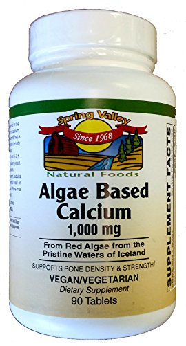 Spring Valley Natural Foods Algae Based Calcium 1,000 mg 90 Tablets