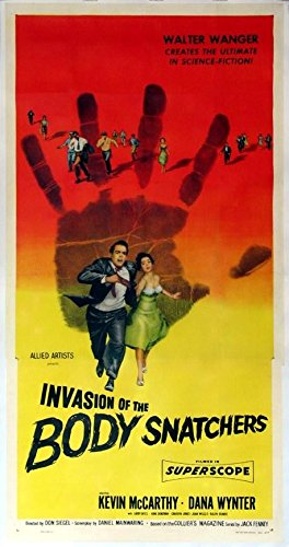 INVASION OF THE BODY SNATCHERS KEVIN McCARTHY SCIENCE FICTION 1956 3-SHEET