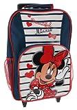 Disney Minnie Mouse 'Stripe' School Travel Trolley Roller Wheeled Bag