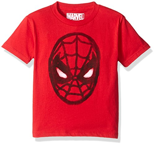Marvel Toddler Boys' Spider-Man T-Shirt, Watercolor Red, 4T (T Shirt Spiderman)