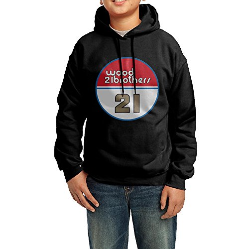 Youth's Wood Brothers Racing 21 Ryan Blaney 100% Cotton Hooded Sweashirt X-Large