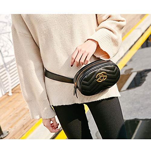 Fashion Bag Clutch function Chest Pockets Multi Blacka Ladies Ladies Pockets q04Ctt