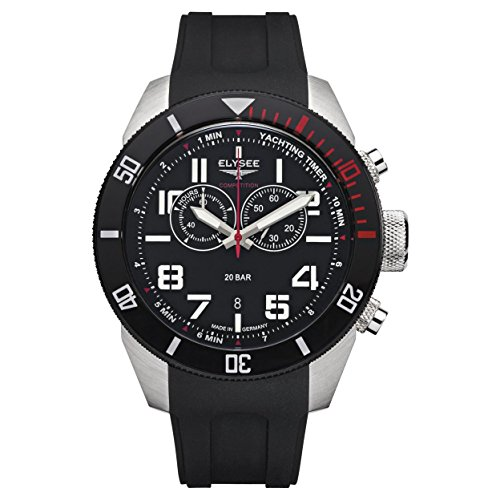 Elysee Mens Watch Gents Competition Yachting Timer Chronograph 94000