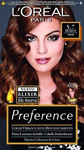 Tinte Capilar Permanente Preference L Oréal Paris 5.7 Castaño Claro Dorado  Cobrizo d19eff09c517