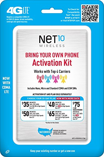 Net10 Bring Your Own Phone SIM Activation Kit - Retail -
