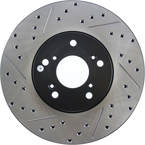 Rotor Front Stoptech Slotted (StopTech 127.40046R Sport Drilled/Slotted Brake Rotor (Front Right), 1 Pack)