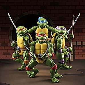 MiaoDuo 4pcs S.H. FiguartsTeenage Mutant Ninja Turtles Action Figures Anime Movie Toys Gift