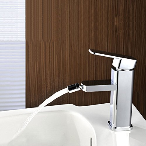 Rotate Water Spout Outlet Square Basin Faucet Bathroom Faucets Brass - Bathroom faucet outlet