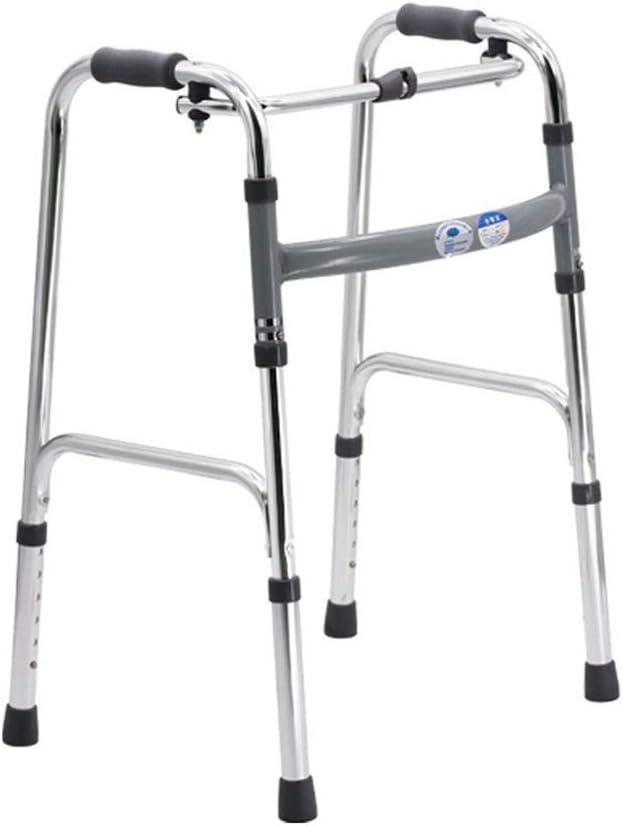 ZGQA-AOC Ajustable Walker - Adulto Médico andadores - Upright Walker Plegable for facilitar el Almacenamiento y Transporte - Longevidad Garantizada y Superior Apoyo for la Tercera Edad