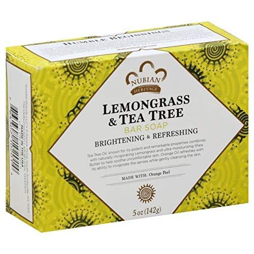 Nubian Heritage Lemongrass & Tea Tree Bar Soap, 5 oz (Pack of 12)