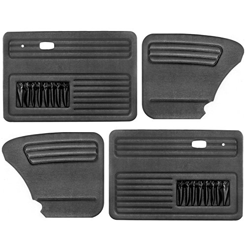 Empi 00-4854-0 VW Bug, Beetle, 4-Piece Universal Door Panel Kit, Type 1, 65-77, Black (Exc. Conv.) ()