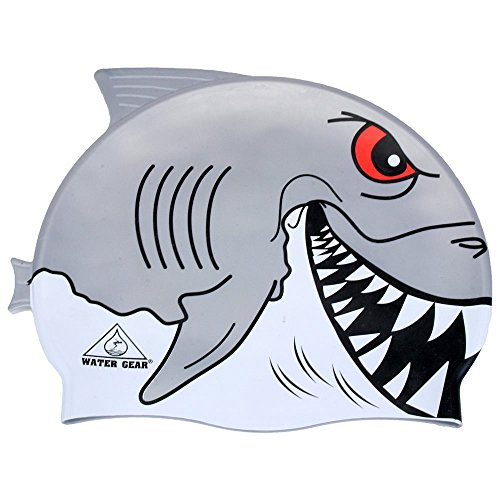Gear For Sports Cap - Water Gear Critter Silicone Swim Cap, Great White Shark