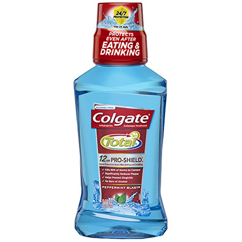 - Colgate Total Advanced Pro-Shield Mouthwash, Peppermint - 250 mL