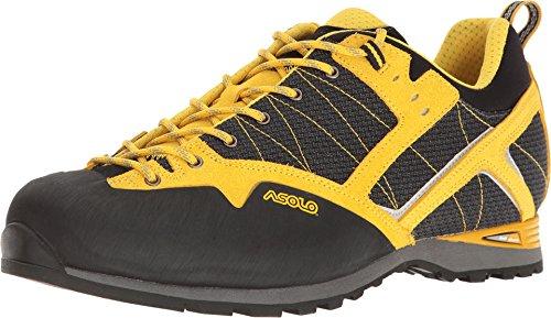 Asolo Men's Magix Hiking Shoe,Black/Yellow Microtech,US 8 M