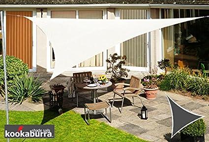 Kookaburra Tenda a Vela Avorio Impermeabile Protezione Anti Raggi 98/% UV per Ombreggiare Il Giardino Quadrata 2,0m Terrazzo o Balcone