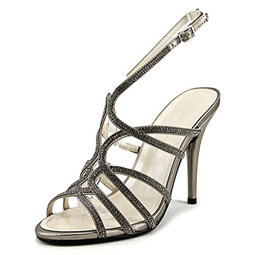 Caparros Womens Flat Sandals, Mushroom Metallic, Size 7.0