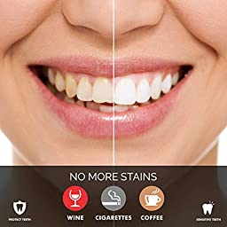 All Natural Teeth Whitening Powder - Made in USA with Coconut Activated Charcoal - Safe Effective Tooth Whitener Solution. Better than Strips, Kit, Gel & Whitening Toothpaste.
