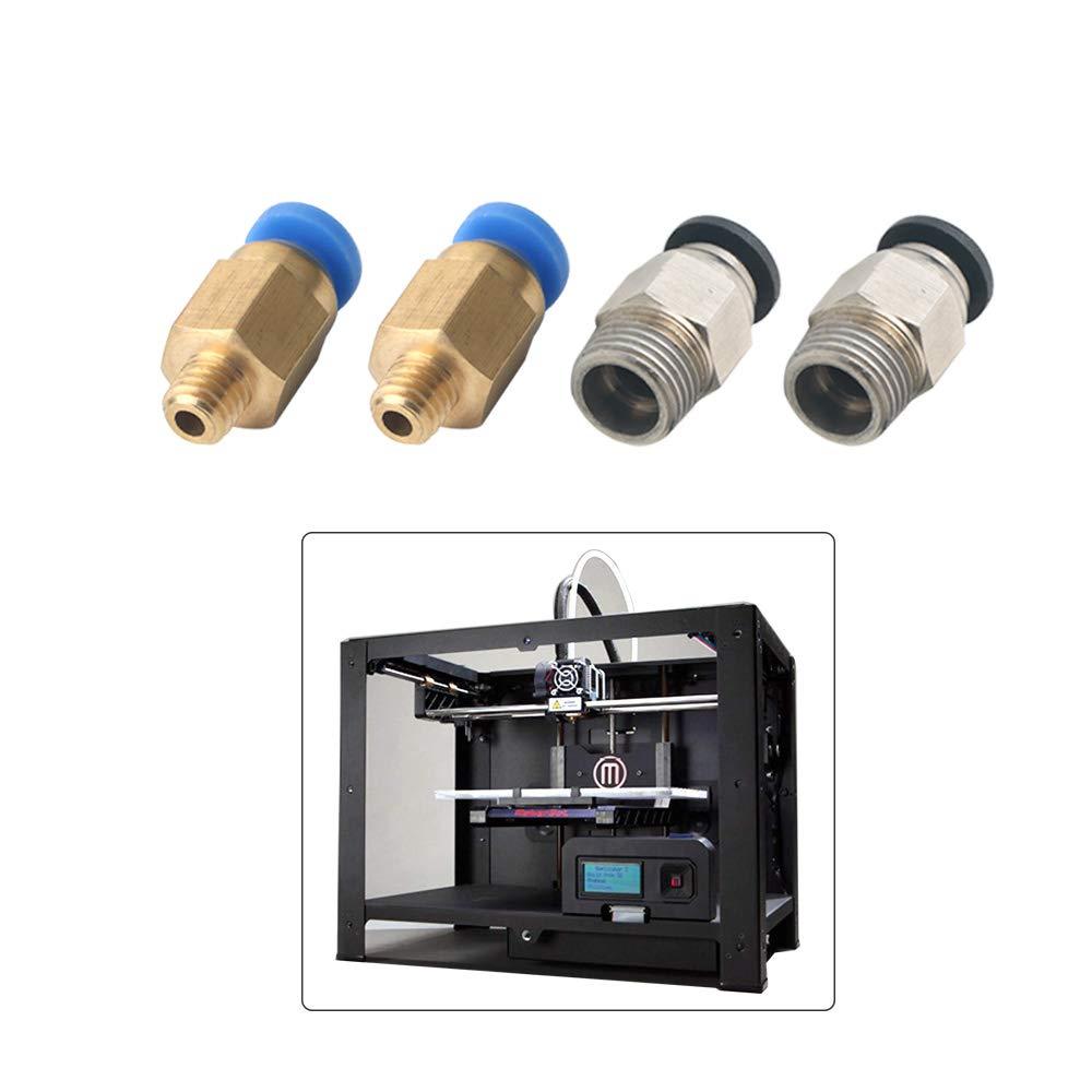avec 15Pcs PC4-M6 Raccord Rapide et 15Pcs PC4-M10 Raccord Pneumatique Droit pour Imprimante 3D Bowden Extruder FULARR/® 30Pcs Professionnel 3D Imprimante Teflon Tubes Connecteur Kit