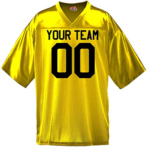 Custom Football Jersey for Youth and Adult you Design Online in Adult 2X-Large in Gold]()