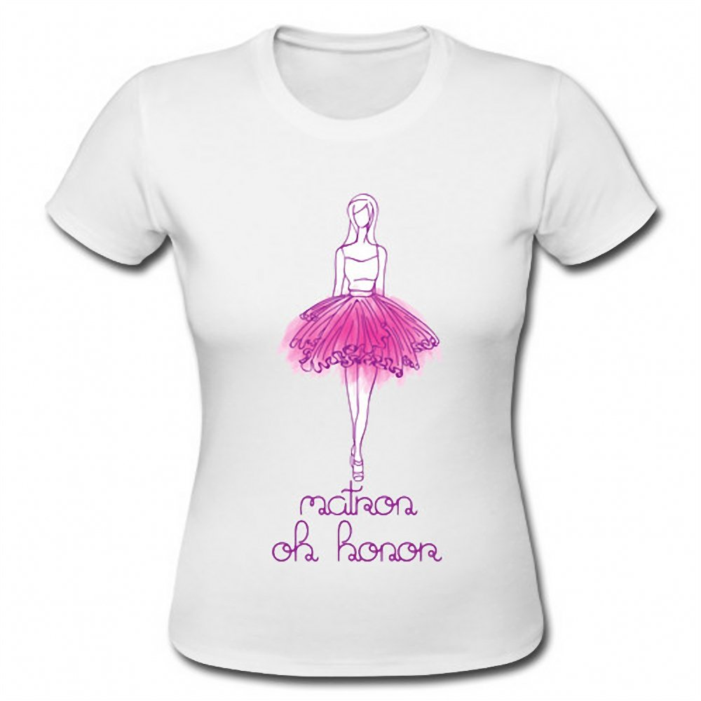 Matron of Honor Funny Bachelorette Party Ladies Short Sleeve T-Shirt Tee