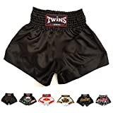 Twins Special Muay Thai Boxing Shorts (Plain Black S)