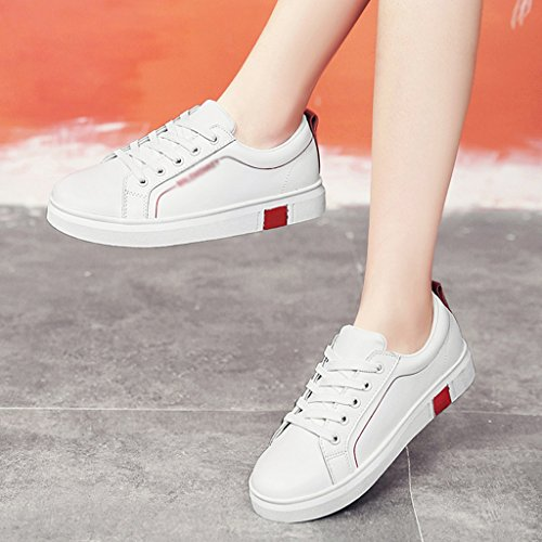 Shoes White White Scarpe 39 Plate donna green Red Colore Single Scarpe Sports Femmina Casual Shoes dimensioni HWF Studente donna da Flat Spring Bianco TOqWX1