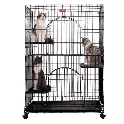 ProSelect Foldable Cat Cages – Ivory 514USW6HGuL