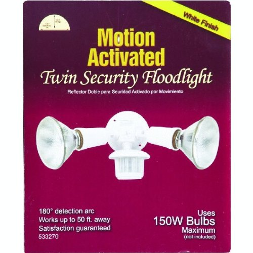 180-Degree Non-Metallic Incandescent Motion Floodlight Fixture - 1 Each - - Amazon.com