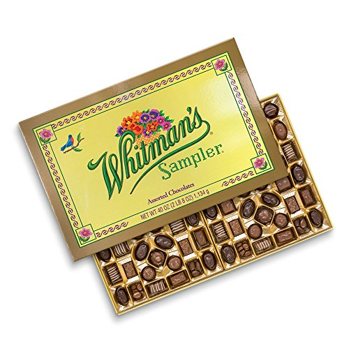 Russell Stover Whitman's Giant Sampler Assorted Chocolates Box, 40 Ounce