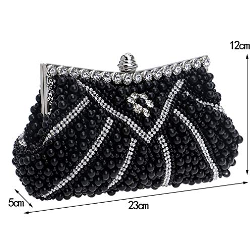 Clutches Purse Ym1119champagne Beaded Design Evening Shell Wedding Dinner Day Diamonds Party Handmade Women For Bags Soft Z6zt0
