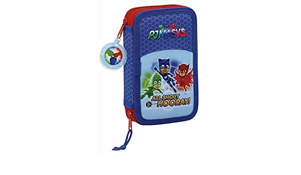 Amazon.com: PJ Masks Double filled pencil case 28pcs ...