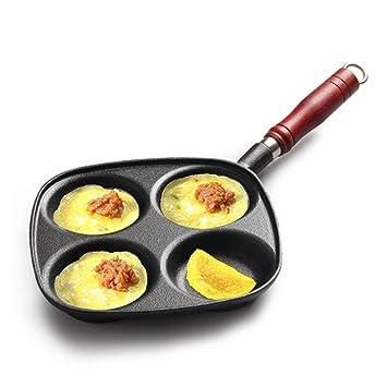 DWUN [92 Olla de Cocina, Wok casero, sartenes Huevo de Hierro Fundido Dumpling