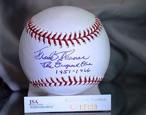 FRANK THOMAS THE ORIGINAL JSA CERTED MAJOR LEAGUE AUTOGRAPH BASEBALL AUTHENTIC (Signed Autograph Baseball)