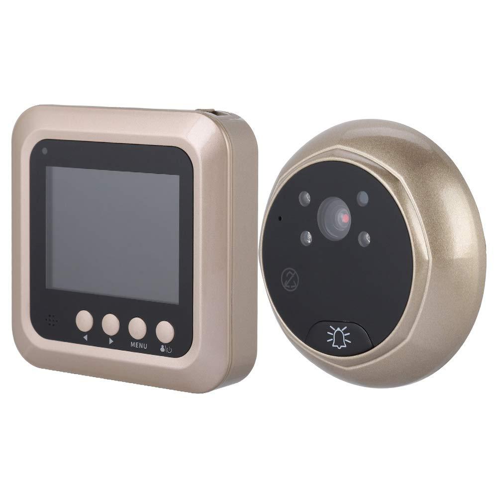 Zetiling Digital Door Viewer, Wireless Intelligent Electric Door Bell 2.4inches 1080P Spyhole Security Door Viewer