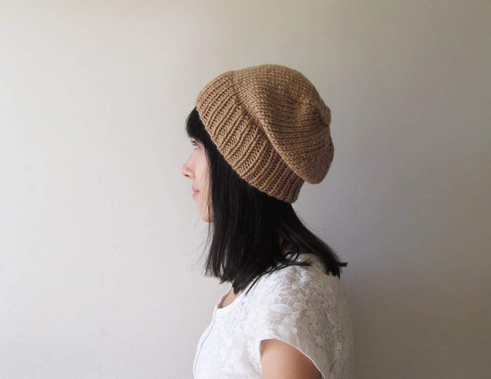 0a3bcc644de Amazon.com  Camel Slouchy Hat