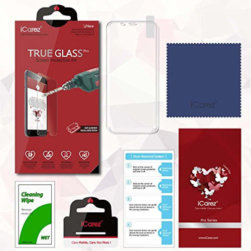 iCarez [Full Screen Coverage] Tempered Glass Screen Protector for Samsung Galaxy S8 [1 Pack] Easy Install with Lifetime Replacement Warranty - Retail Packaging