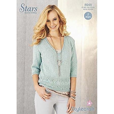 Stylecraft Ladies Sweater Knitting Pattern 8948 Dk Amazon